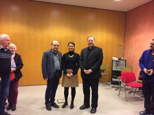Bischof Georg, Andrea Göpfert -Abteilung Personalentwicklung, Roland Marx -Vorsitzender der AG Küster im Bistum Limburg